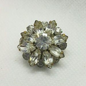 Small vintage rhinestone brooch